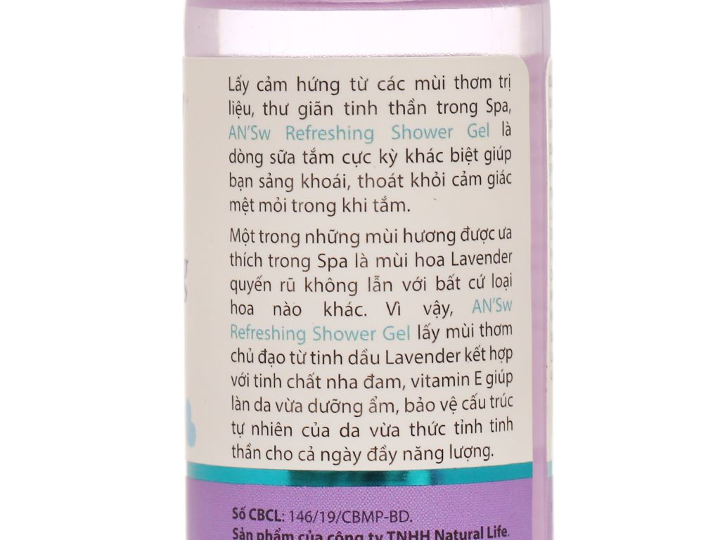 Gel tắm ANSw tinh dầu oải hương 100g 4