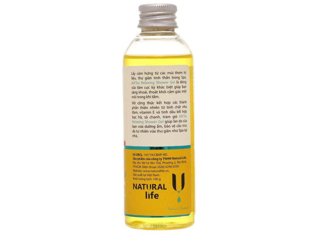 Gel tắm ANSw tinh dầu sả chanh 100g 2