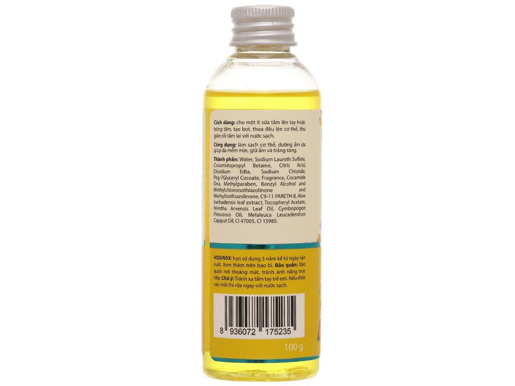 Gel tắm ANSw tinh dầu sả chanh 100g 3