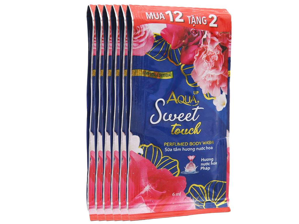 Sữa tắm Aqua up Sweet Touch hương nước hoa 6ml x 14 gói 1