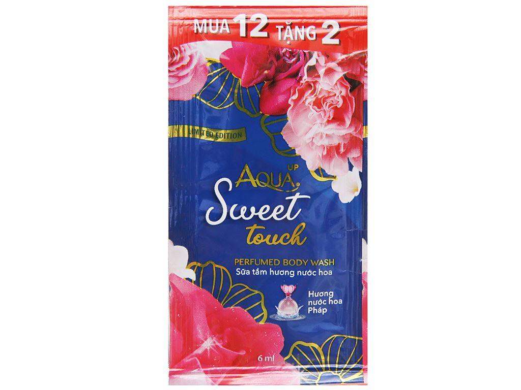 Sữa tắm Aqua up Sweet Touch hương nước hoa 6ml x 14 gói 2