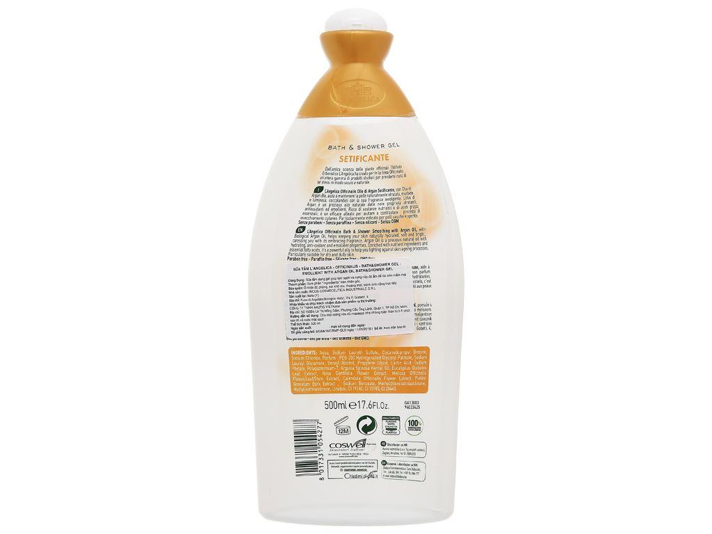 Sữa tắm L'Angelica Argan Oil 500ml 2