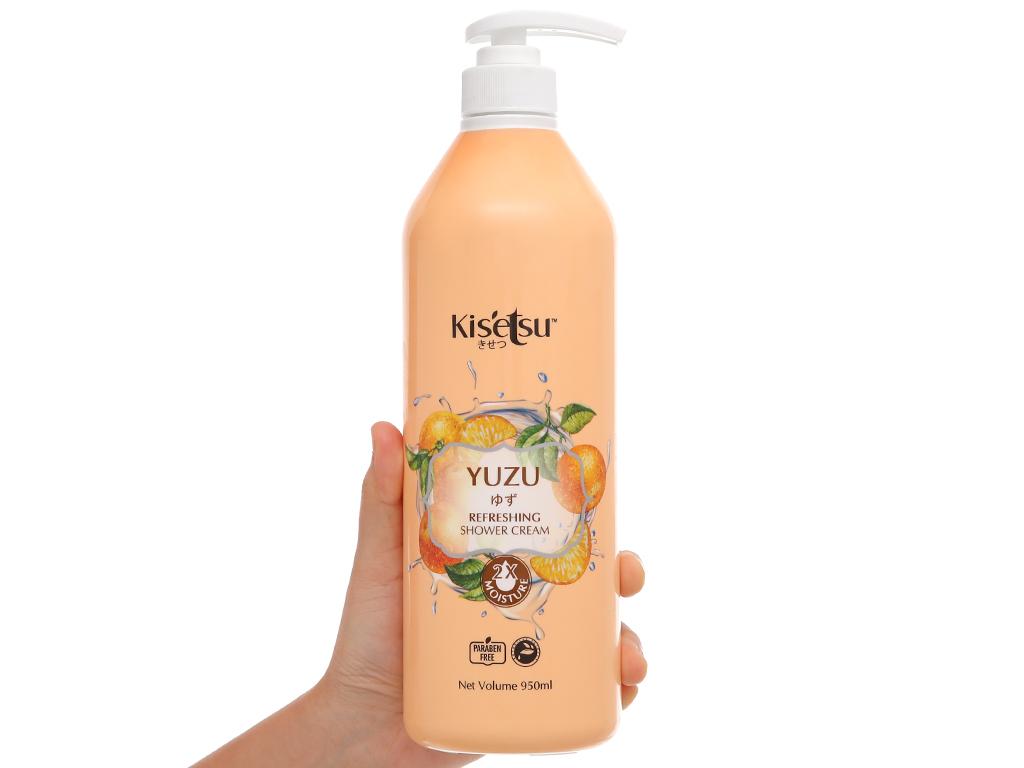 Sữa tắm Kisetsu dưỡng ẩm sáng da yuzu 950ml 4