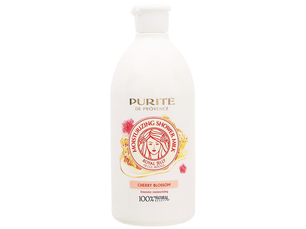 Sữa tắm Purité dưỡng ẩm sữa ong chúa và hoa anh đào 500ml 1