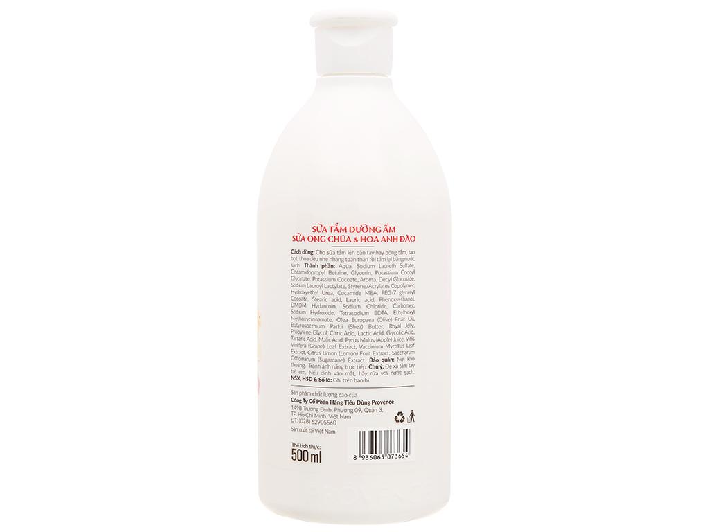 Sữa tắm Purité dưỡng ẩm sữa ong chúa và hoa anh đào 500ml 2