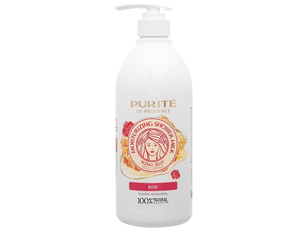 Sữa tắm Purité dưỡng ẩm sữa ong chúa và hoa hồng 850ml 1