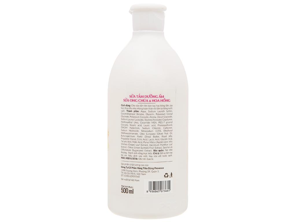 Sữa tắm Purité dưỡng ẩm sữa ong chúa và hoa hồng 500ml 2