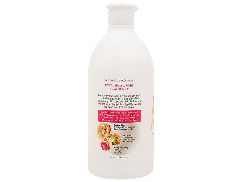 Sữa tắm Purité dưỡng ẩm sữa ong chúa và hoa hồng 500ml 3