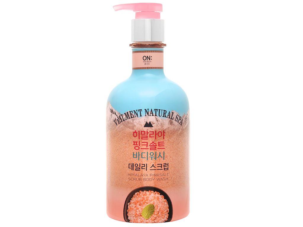 Sữa tắm hạt ON THE BODY Veilment Spa Himalaya Pinksalt 600g 1