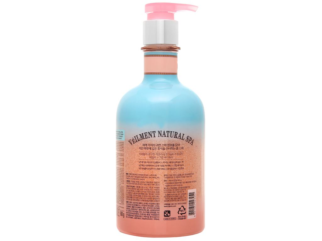 Sữa tắm hạt ON THE BODY Veilment Spa Himalaya Pinksalt 600g 2
