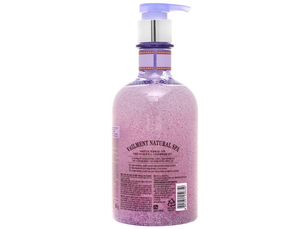 Sữa tắm hạt ON THE BODY Veilment Spa Lavender 600g 2