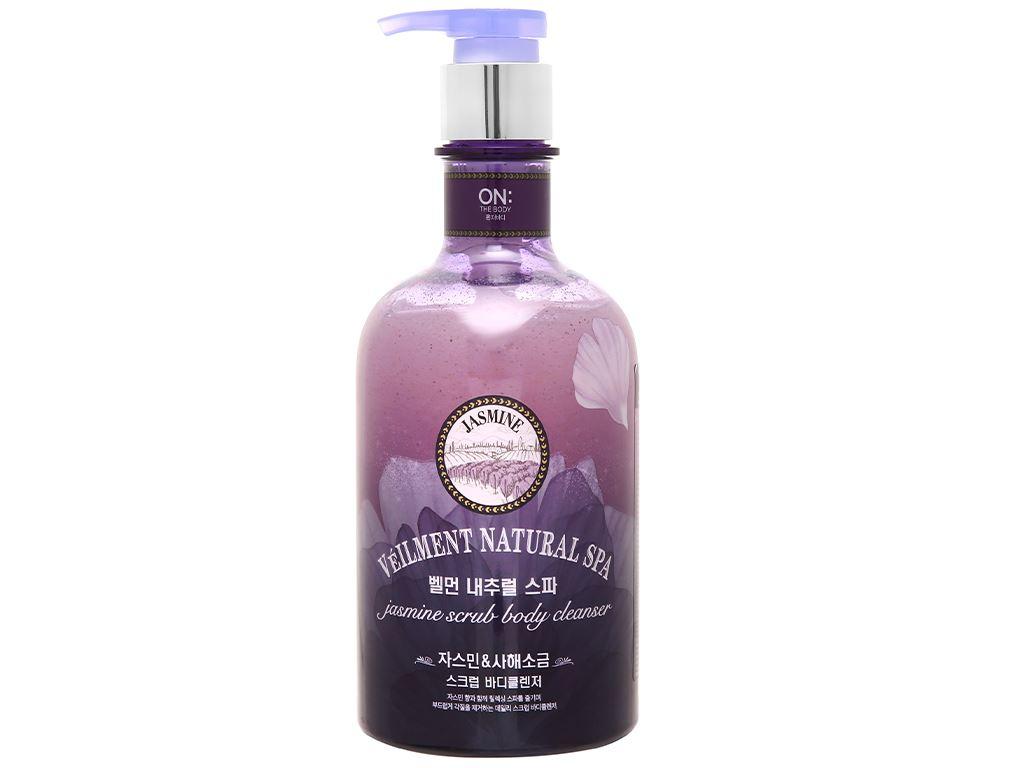 Sữa tắm hạt ON THE BODY Veilment Spa Jasmine 600g 1