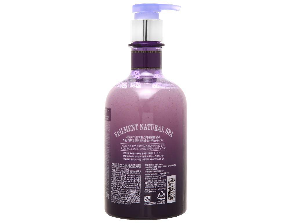 Sữa tắm hạt ON THE BODY Veilment Spa Jasmine 600g 2