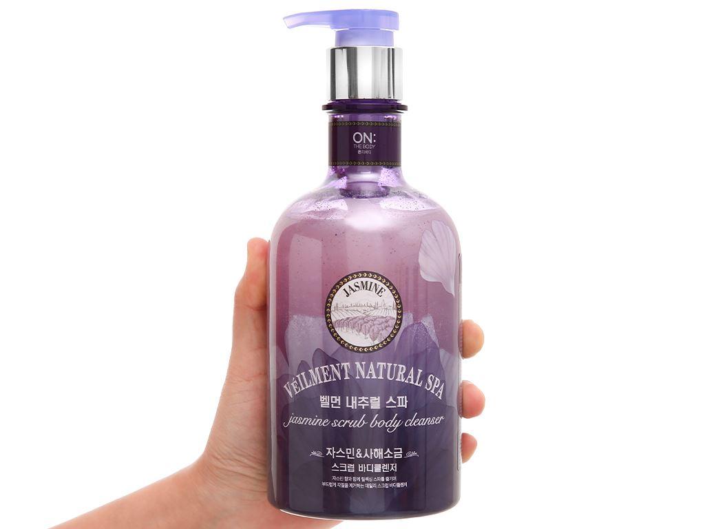 Sữa tắm hạt ON THE BODY Veilment Spa Jasmine 600g 4