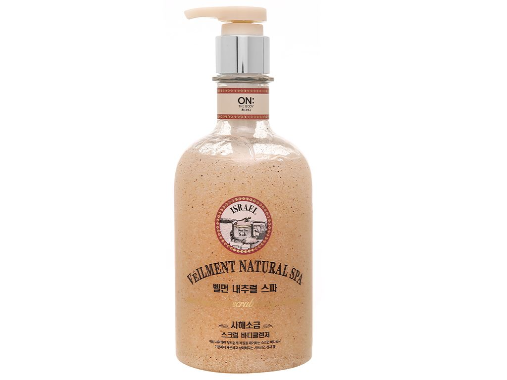 Sữa tắm hạt ON THE BODY Veilment Spa Deadsea Salt 600g 1