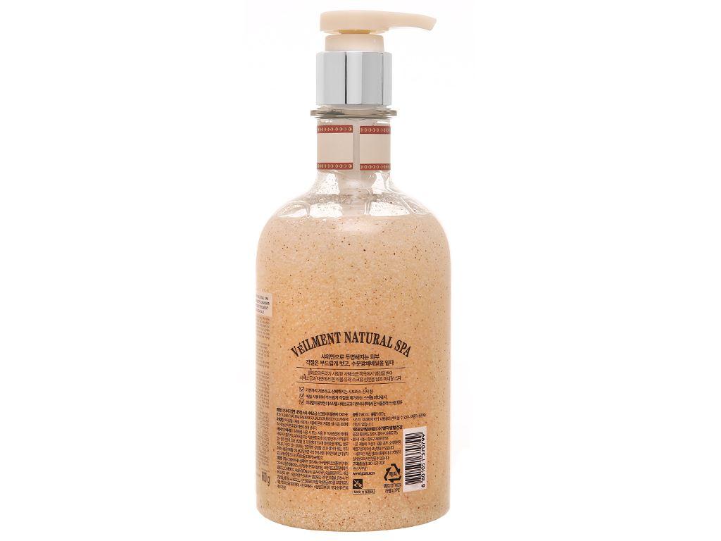 Sữa tắm hạt ON THE BODY Veilment Spa Deadsea Salt 600g 2