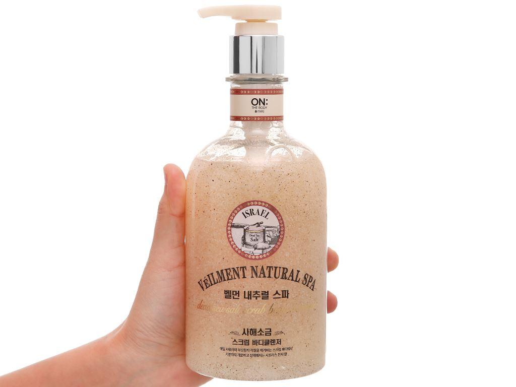 Sữa tắm hạt ON THE BODY Veilment Spa Deadsea Salt 600g 4