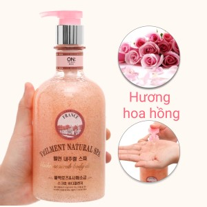 Sữa tắm hạt ON THE BODY Veilment Spa Blackrose 600g