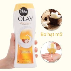 Sữa tắm Olay dưỡng ẩm chiết xuất bơ hạt mỡ 650ml