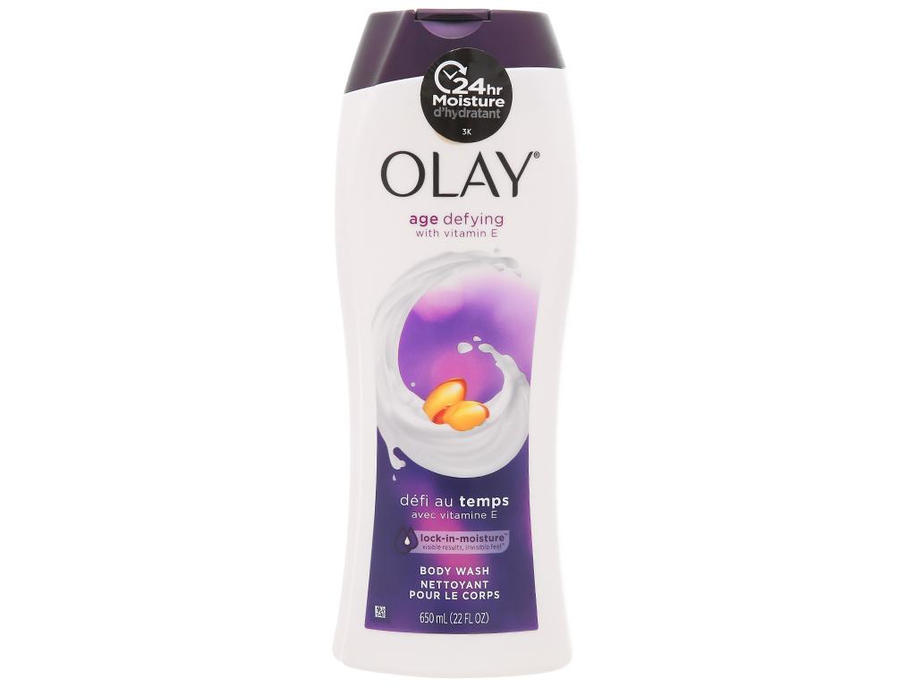 Sữa tắm Olay chống lão hóa chiết xuất vitamin E 650ml 1