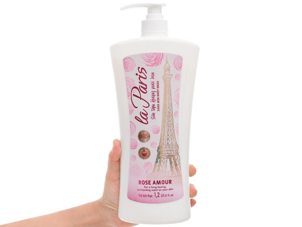 Sữa tắm la Paris Rose Amour tinh chất hoa hồng 1.2 lít 5