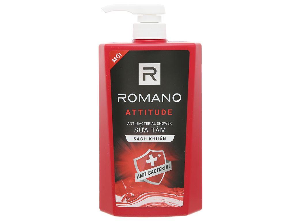 Sữa tắm sạch khuẩn Romano Attitude 650g 1