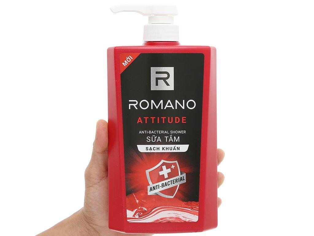 Sữa tắm sạch khuẩn Romano Attitude 650g 4