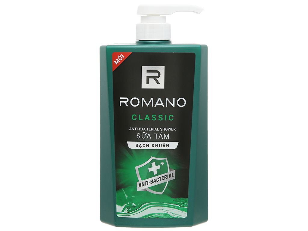 Sữa tắm sạch khuẩn Romano Classic 650g 1