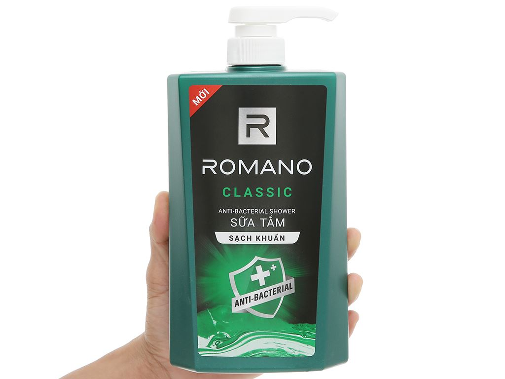 Sữa tắm sạch khuẩn Romano Classic 650g 4