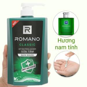 Sữa tắm sạch khuẩn Romano Classic 650g