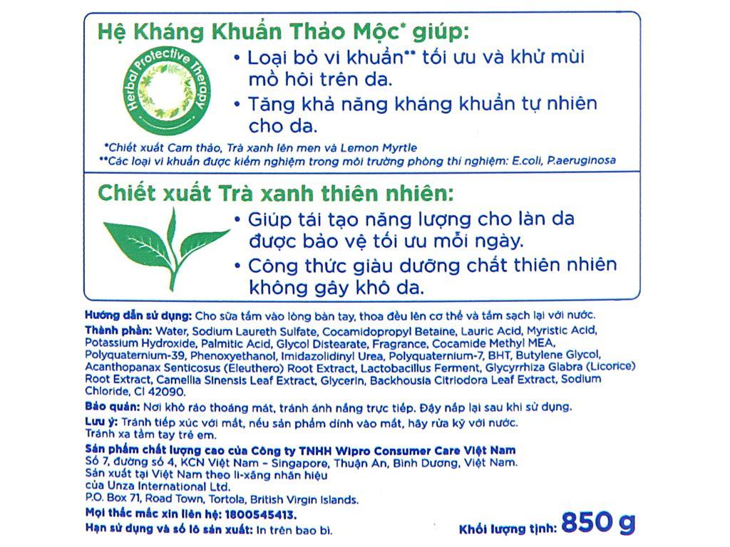 Sữa tắm sạch khuẩn Aiken Extra Protection 850g 3