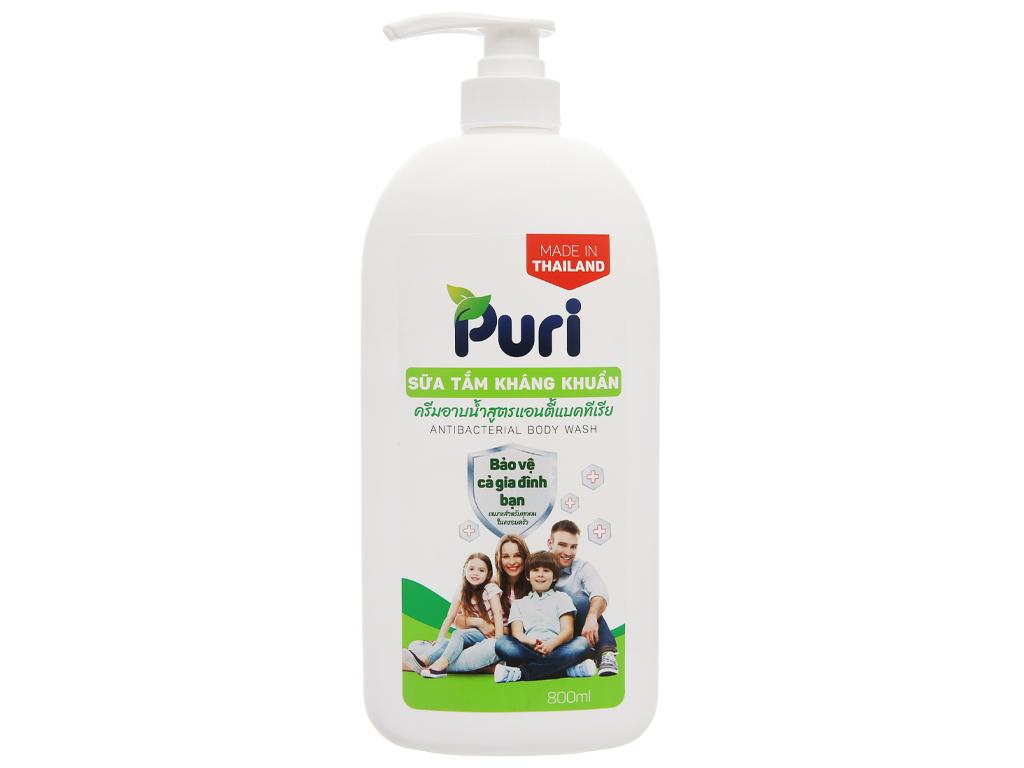 Sữa tắm kháng khuẩn Puri 800ml 1