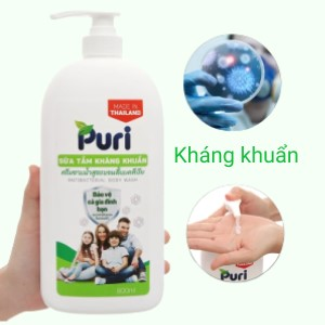 Sữa tắm kháng khuẩn Puri 800ml