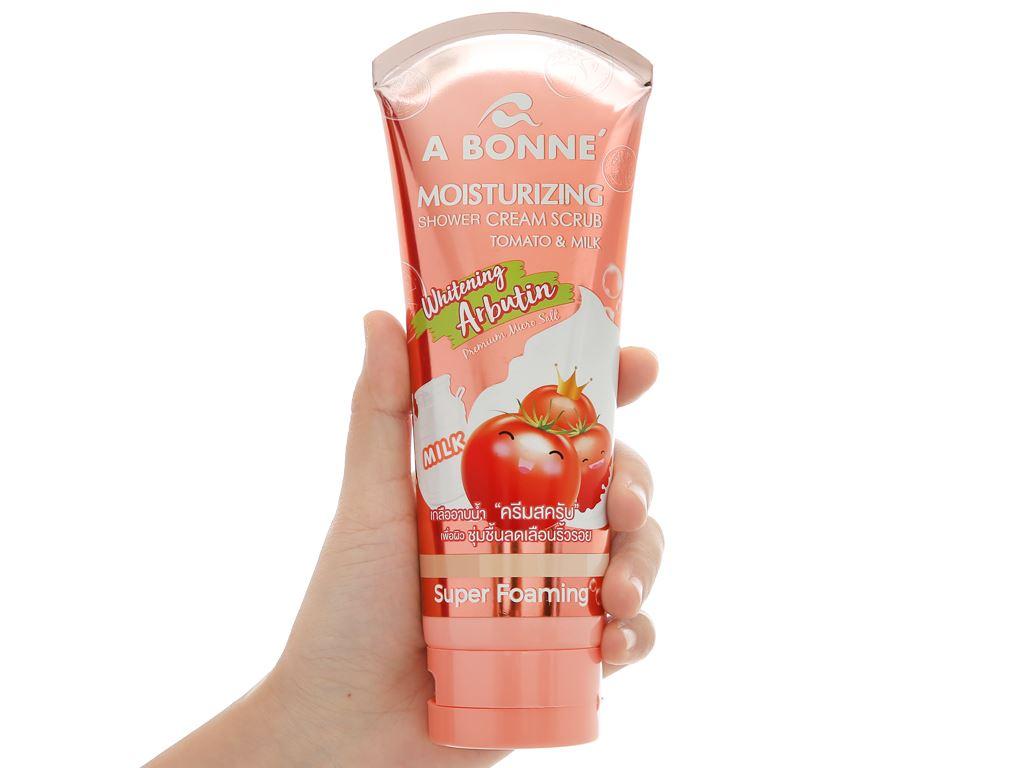 Sữa tắm tẩy tế bào chết A Bonné chiết xuất cà chua và sữa 350g 4
