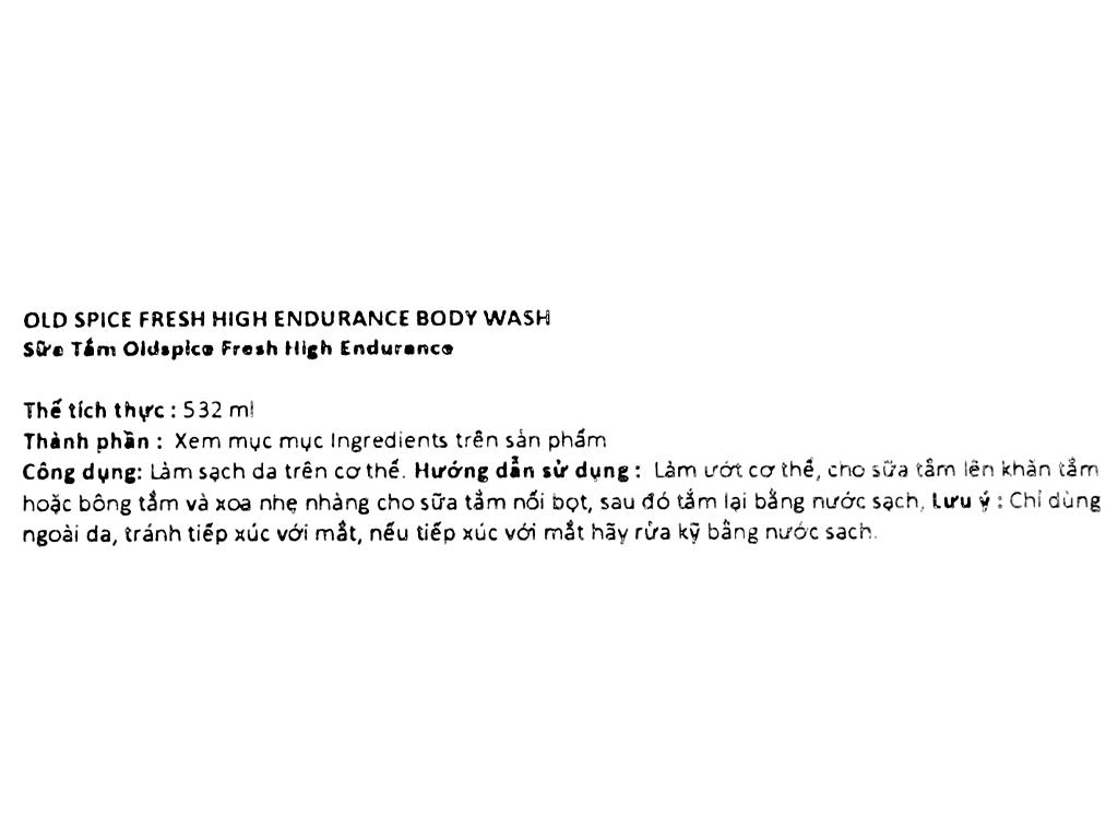 Sữa tắm Old Spice Fresh High Endurance 532ml 3