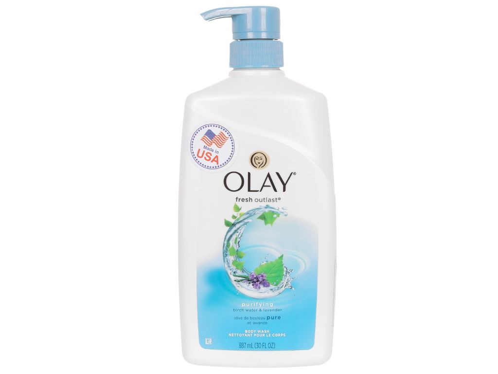Sữa tắm Olay hương lá cây bạch dương và hoa oải hương 887ml 1