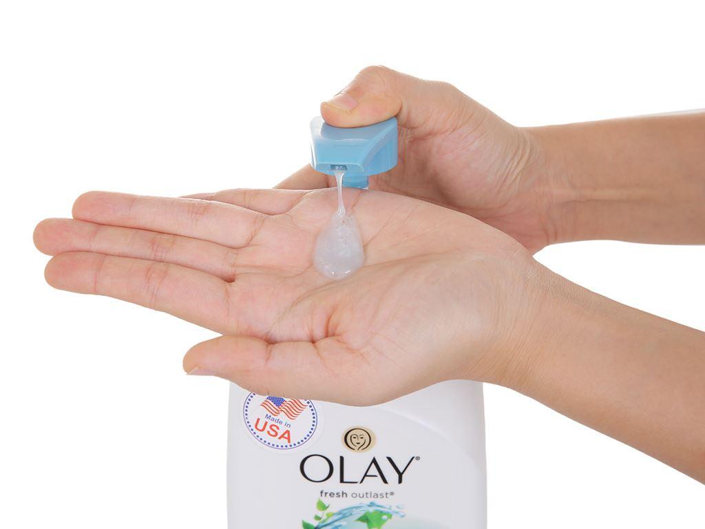Sữa tắm Olay hương lá cây bạch dương và hoa oải hương 887ml 4