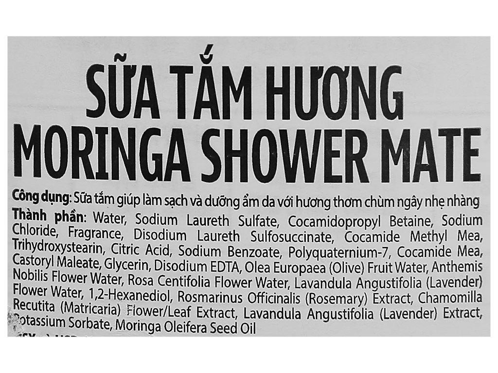 Sữa tắm Shower Mate hương moringa 840ml 3