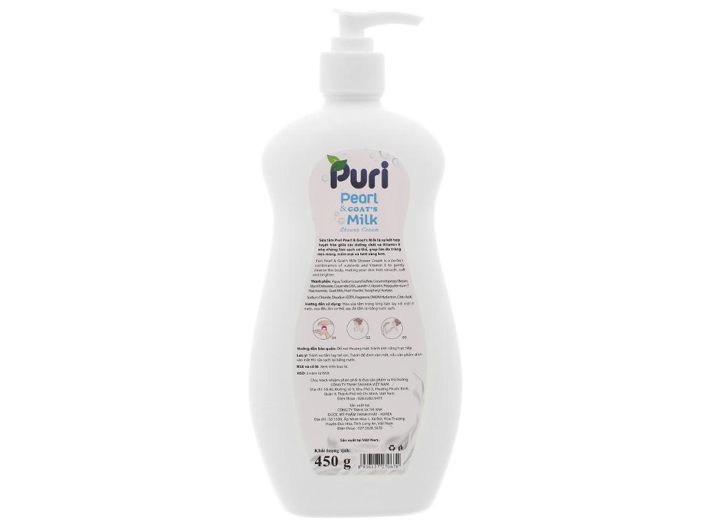 Sữa tắm Puri sữa dê & ngọc trai 450g 2