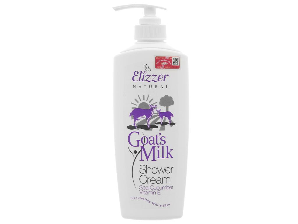 Sữa tắm Elizzer Natural tinh chất sữa dê 500ml 1