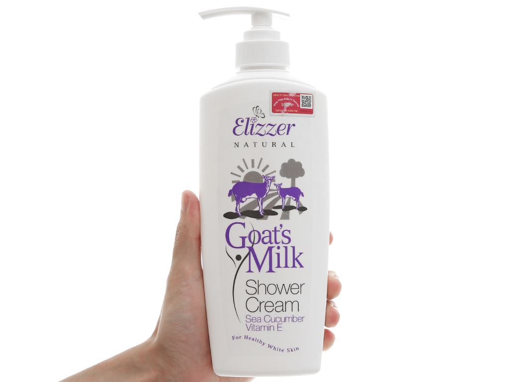 Sữa tắm Elizzer Natural tinh chất sữa dê 500ml 5