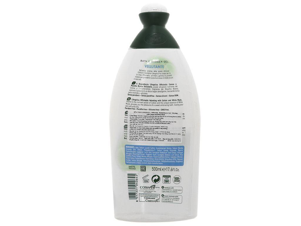 Sữa tắm L'Angelica White Musk 500ml 2