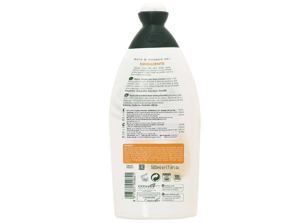 Sữa tắm L'Angelica Oat Milk 500ml 2