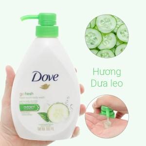 Sữa tắm dưỡng ẩm Dove hương dưa leo 550ml