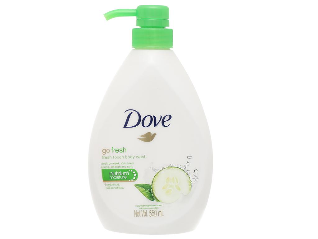 Sữa tắm dưỡng ẩm Dove hương dưa leo 550ml 1