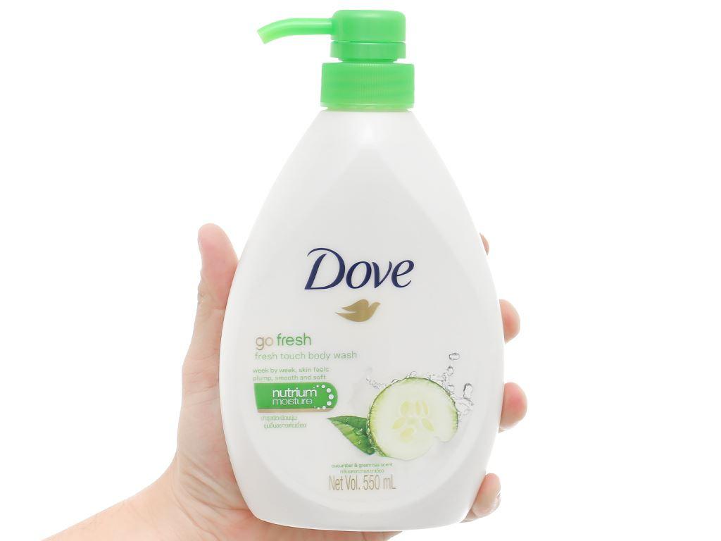 Sữa tắm dưỡng ẩm Dove hương dưa leo 550ml 5