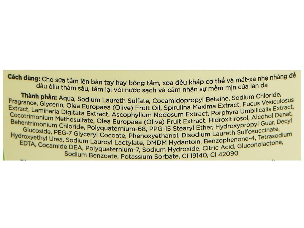 Sữa tắm Ôliv Detox sạch sâu bảo vệ da 250ml 3