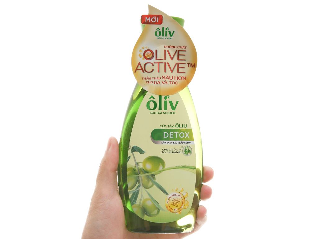 Sữa tắm Ôliv Detox sạch sâu bảo vệ da 250ml 4