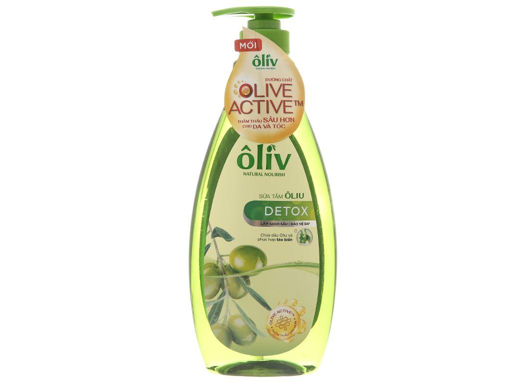 Sữa tắm Ôliv Detox sạch sâu bảo vệ da 650ml 1