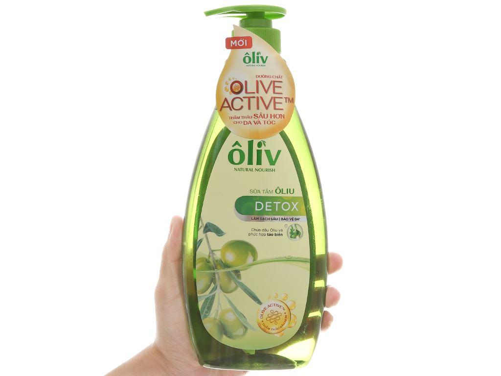 Sữa tắm Ôliv Detox sạch sâu bảo vệ da 650ml 4